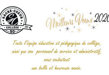 Le collège du Sacré Coeur de Vannes vous souhaite une bonne année 2020